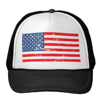 Beunruhigte Art USA-Flagge Cap