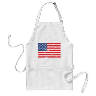 Beunruhigte Art USA-Flagge Schürze