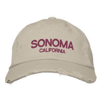 Beunruhigte Baseballmütze Sonomas Kalifornien
