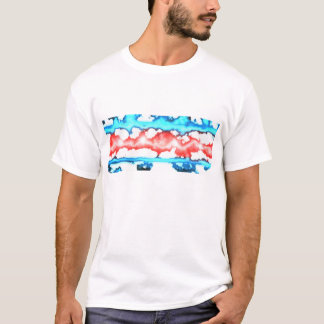 Beunruhigte Chicago Flagge Chicagos Wetter T-Shirt