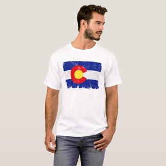 Beunruhigte Colorado-Flagge T-Shirt