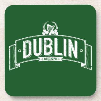 beunruhigte Dublin-Fahne Getränkeuntersetzer