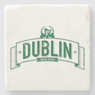 beunruhigte Dublin-Fahne Steinuntersetzer
