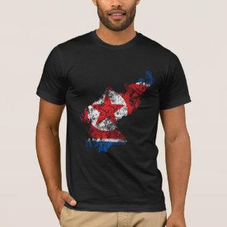 Beunruhigte Flagge Nordkoreas T-Shirt