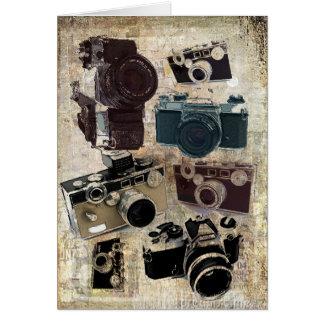 beunruhigte Fotografphotographie Retro Kamera Karte