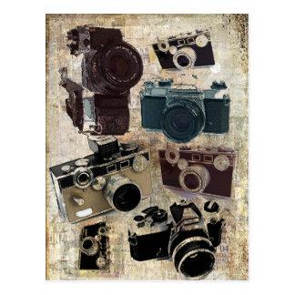 beunruhigte Fotografphotographie Retro Kamera Postkarte