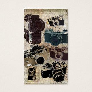 beunruhigte Fotografphotographie Retro Kamera Visitenkarte