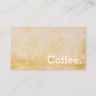 Distressed Yellow Simple Loyalty Coffee Punch-Card