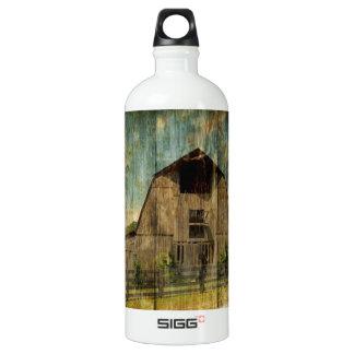 Beunruhigte hölzernes ursprüngliches wasserflasche