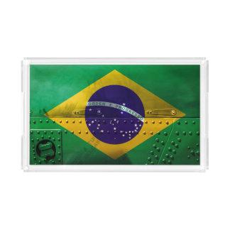 Beunruhigte Landesflaggen | Brasilien Acryl Tablett