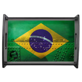 Beunruhigte Landesflaggen | Brasilien Tablett
