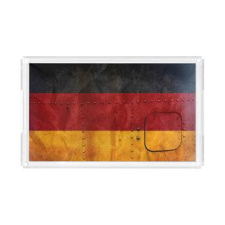 Beunruhigte Landesflaggen | Deutschland Acryl Tablett