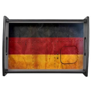 Beunruhigte Landesflaggen | Deutschland Tablett