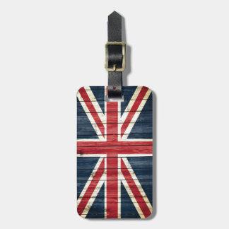 Beunruhigte Landesflaggen | Großbritannien Gepäckanhänger