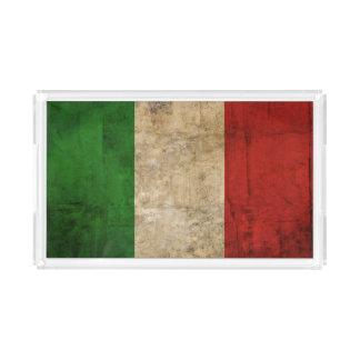 Beunruhigte Landesflaggen   Italien Acryl Tablett