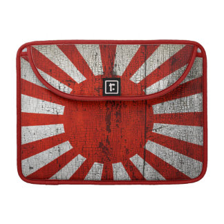 Beunruhigte Landesflaggen | Japan Sleeve Für MacBook Pro
