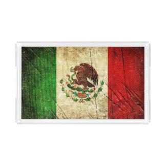 Beunruhigte Landesflaggen | Mexiko Acryl Tablett