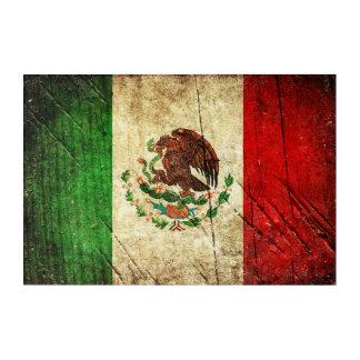 Beunruhigte Landesflaggen | Mexiko Acryldruck