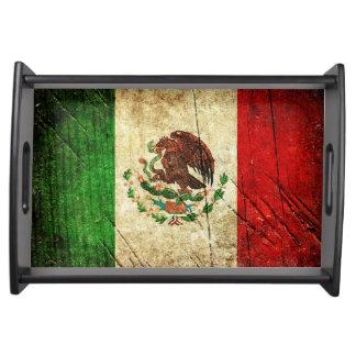 Beunruhigte Landesflaggen | Mexiko Serviertablett