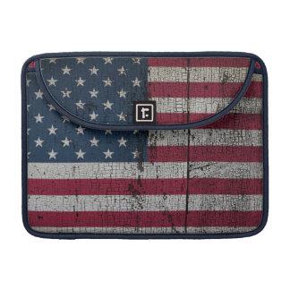 Beunruhigte Landesflaggen | Vereinigte Staaten MacBook Pro Sleeve