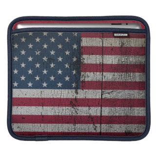 Beunruhigte Landesflaggen | Vereinigte Staaten Sleeve Für iPads