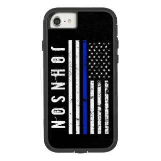 Beunruhigte Polizei-Art-amerikanische Flagge Case-Mate Tough Extreme iPhone 8/7 Hülle