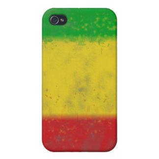 Beunruhigte Rasta Streifen iPhone 4/4S Case