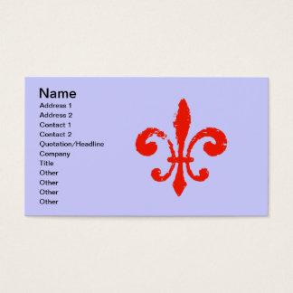 Beunruhigte rote Lilie, Visitenkarte