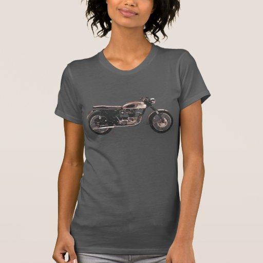 Beunruhigte Vintage britische Motorrad-Kleidung T-shirt