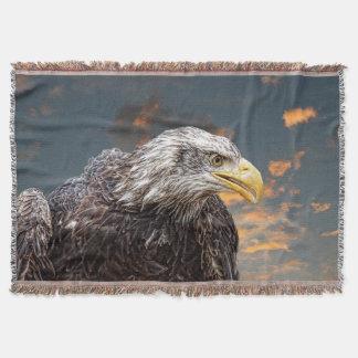 Beunruhigter Amerikaner-Eagle-Fotografie-Druck Decke
