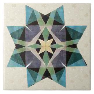 Beunruhigter Aquarell Kaleidescopic persischer Keramikfliese