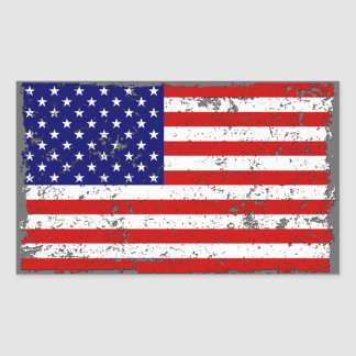 Beunruhigter Flagge-Aufkleber