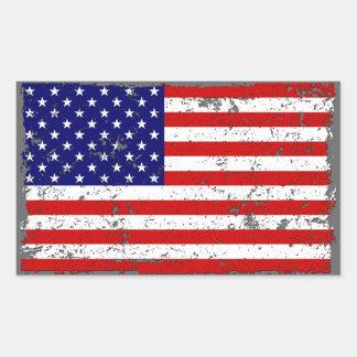 Beunruhigter Flagge-Aufkleber Rechteckiger Aufkleber
