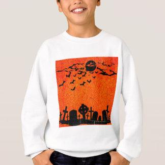 Beunruhigter Friedhof - orange schwarzer Sweatshirt