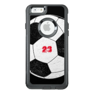 Beunruhigter Fußball-Ball mit personalisierter OtterBox iPhone 6/6s Hülle