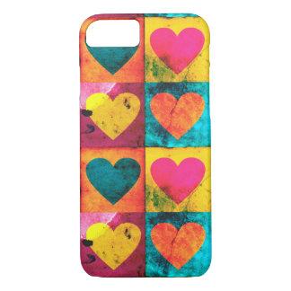 Beunruhigter Herz-Pop-Kunst iPhone 7 Kasten iPhone 8/7 Hülle