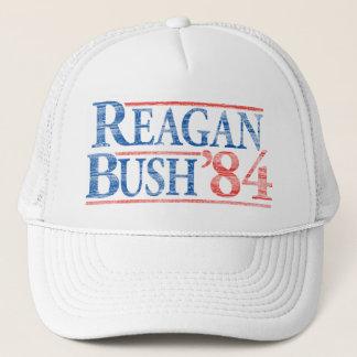 Beunruhigter Kampagnen-Hut Reagans Bush '84 Truckerkappe