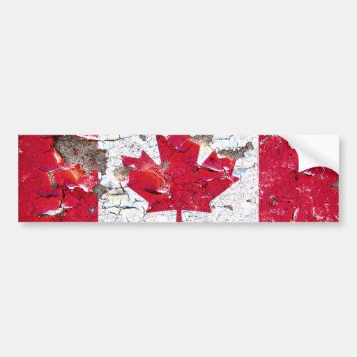 Beunruhigter kanadischer Flaggen-Autoaufkleber