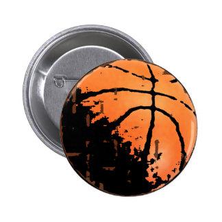 Beunruhigter städtischer Basketball Runder Button 5,7 Cm