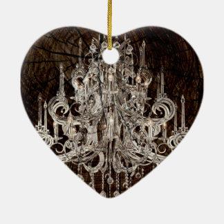 Beunruhigter ursprünglicher Leuchter Land des Keramik Herz-Ornament