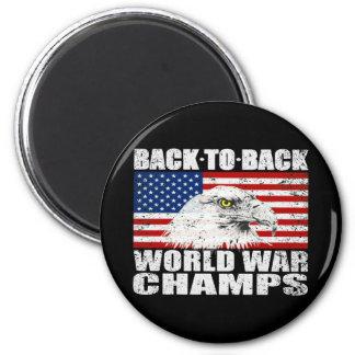 Beunruhigter US-Weltkrieg kaut Magneten Runder Magnet 5,1 Cm