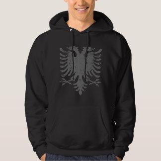 Beunruhigtes Albaner-Eagle-Wappen Hoodie