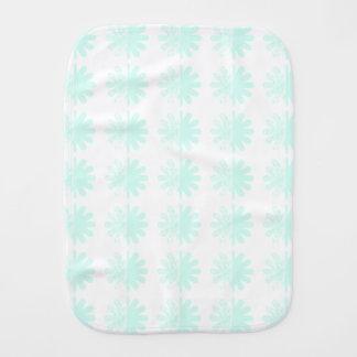 Beunruhigtes Blumenblatt-Schneeflocke-Muster Baby Spucktuch