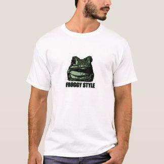 Beunruhigtes Froggy-Art-Shirt T-Shirt