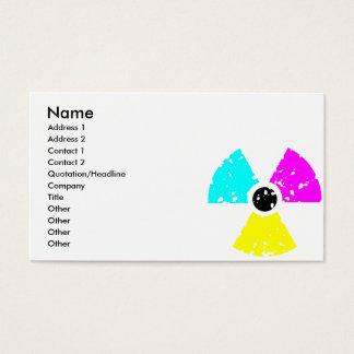 beunruhigtes giftiges Symbol CMYK Visitenkarte