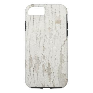 Beunruhigtes Holz mit weißer Schalenfarbe iPhone 8/7 Hülle