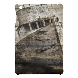 Beunruhigtes hölzernes Seerustikales Segelboot des iPad Mini Hülle
