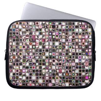 Beunruhigtes Juwel tont strukturiertes Gitterfeld Laptop Sleeve Schutzhüllen