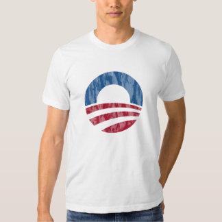 Beunruhigtes Logo-T-Stück Obama 2012 Hemden