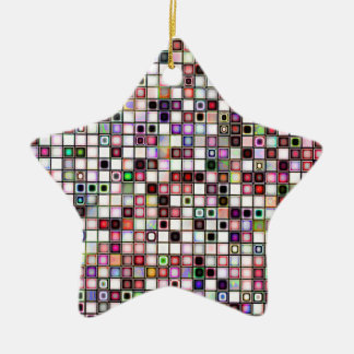 Beunruhigtes Retro Juwel tont Keramik Stern-Ornament
